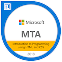 MTA: Introduction to Programming Using HTML and CSS - Certified 2018